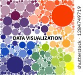 big data visualization.  visual ... | Shutterstock .eps vector #1284749719