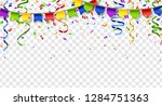 colorful buntings  serpentine... | Shutterstock .eps vector #1284751363