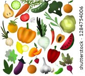 illustration with vegetables ... | Shutterstock . vector #1284754006