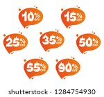 hot sale  a set of icons with... | Shutterstock .eps vector #1284754930
