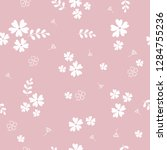 seamless pattern with spring...   Shutterstock .eps vector #1284755236