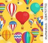 aerostat balloon transport with ... | Shutterstock .eps vector #1284757753