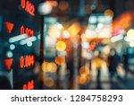 display of stock market quotes...   Shutterstock . vector #1284758293