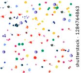 watercolor confetti on white... | Shutterstock .eps vector #1284764863
