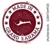 made in grand bahama stamp.... | Shutterstock .eps vector #1284764920