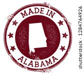 made in alabama stamp. grunge... | Shutterstock .eps vector #1284764926