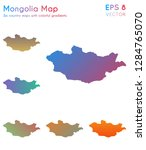map of mongolia with beautiful... | Shutterstock .eps vector #1284765070