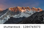 beautiful sunset over himalayan ... | Shutterstock . vector #1284765073