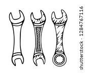 wrench. different wrenches hand ... | Shutterstock .eps vector #1284767116