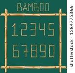 vector bamboo numerals digits...   Shutterstock .eps vector #1284775366