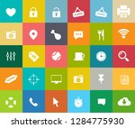 web icons set  communication... | Shutterstock .eps vector #1284775930