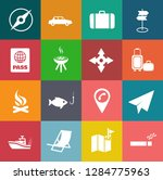vector travel icons  vacation... | Shutterstock .eps vector #1284775963
