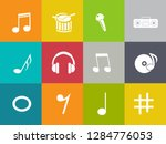 sound music icons set   audio... | Shutterstock .eps vector #1284776053