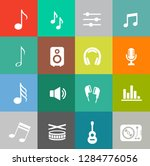 sound music icons set   audio... | Shutterstock .eps vector #1284776056