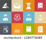 vector collection or set of law ... | Shutterstock .eps vector #1284776089