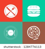 food and beverage icons ... | Shutterstock .eps vector #1284776113