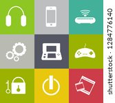 devices icons set ... | Shutterstock .eps vector #1284776140