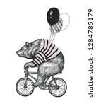 bear ride bicycle balloon t...   Shutterstock .eps vector #1284785179