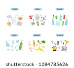 trash and garbage types   paper ... | Shutterstock .eps vector #1284785626