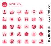 spiritual icon set. collection...   Shutterstock .eps vector #1284788089