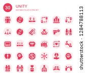 unity icon set. collection of... | Shutterstock .eps vector #1284788113