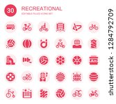 recreational icon set.... | Shutterstock .eps vector #1284792709