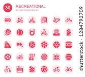 recreational icon set.... | Shutterstock .eps vector #1284792709