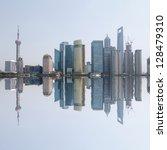 shanghai skyline | Shutterstock . vector #128479310