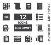 conformity icon set. collection ...