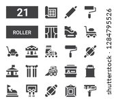 roller icon set. collection of... | Shutterstock .eps vector #1284795526