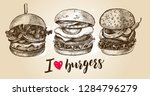 ink hand drawn set of various... | Shutterstock .eps vector #1284796279