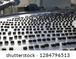 the conveyor for the production ... | Shutterstock . vector #1284796513