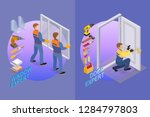 home repair isometric template. ... | Shutterstock .eps vector #1284797803
