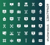 remote icon set. collection of... | Shutterstock .eps vector #1284799609