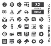 engine icon set. collection of...   Shutterstock .eps vector #1284799630