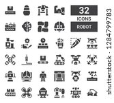 robot icon set. collection of... | Shutterstock .eps vector #1284799783