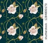 seamless watercolor pattern....   Shutterstock . vector #1284800173