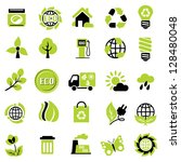 set icons of ecological signs... | Shutterstock . vector #128480048