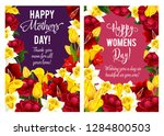 happy mother day greeting cards ... | Shutterstock .eps vector #1284800503