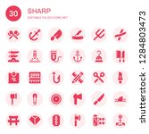 sharp icon set. collection of... | Shutterstock .eps vector #1284803473