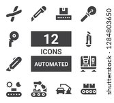 automated icon set. collection... | Shutterstock .eps vector #1284803650