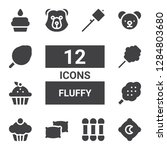 fluffy icon set. collection of... | Shutterstock .eps vector #1284803680