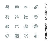 hit icon set. collection of 16...   Shutterstock .eps vector #1284803719