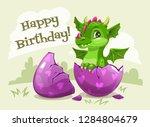 happy birthday greeting card... | Shutterstock .eps vector #1284804679