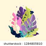 fantastic bouquet with exotic... | Shutterstock .eps vector #1284805810