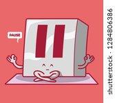 pause button meditating vector... | Shutterstock .eps vector #1284806386