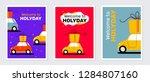 vector creative holiday set of... | Shutterstock .eps vector #1284807160