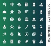 flame icon set. collection of... | Shutterstock .eps vector #1284807370