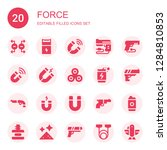 force icon set. collection of... | Shutterstock .eps vector #1284810853