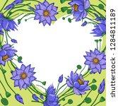 wreath from lotus flowers ...   Shutterstock .eps vector #1284811189